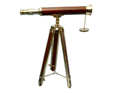 Wood Brass Stand Telescope