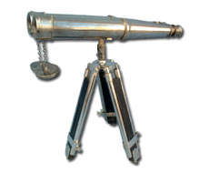 Binoculars with Wood Stand