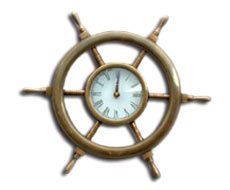Brass Wheel Clock
