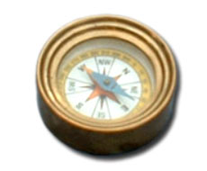 Round Paperweight Compass