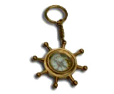 Wheel Key Chain Compass