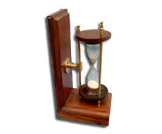 Book End Sand Glass Timer