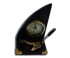 Pen Holder Table Clock with Anchor
