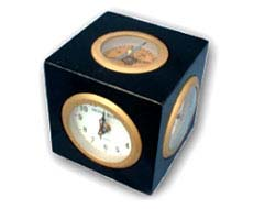 Box Clock Compass with Frame