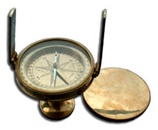 World Time Box Clock with Compass