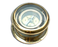 Brass Box Gimbled Compass