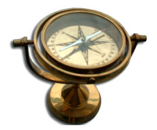 Brass Gimbled Compass