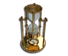 Sand Glass Timer With Compass