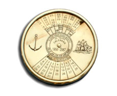 Nautical Paperweight Calendar